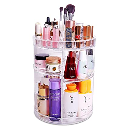 d0fa9625f900 COOLBEAR 360 Rotating Makeup Organizer, Makeup Carousel Spinning Storage  with 6 Adjustable Layers, Large Capacity Round Cosmetics Organizer Box,  Best ...