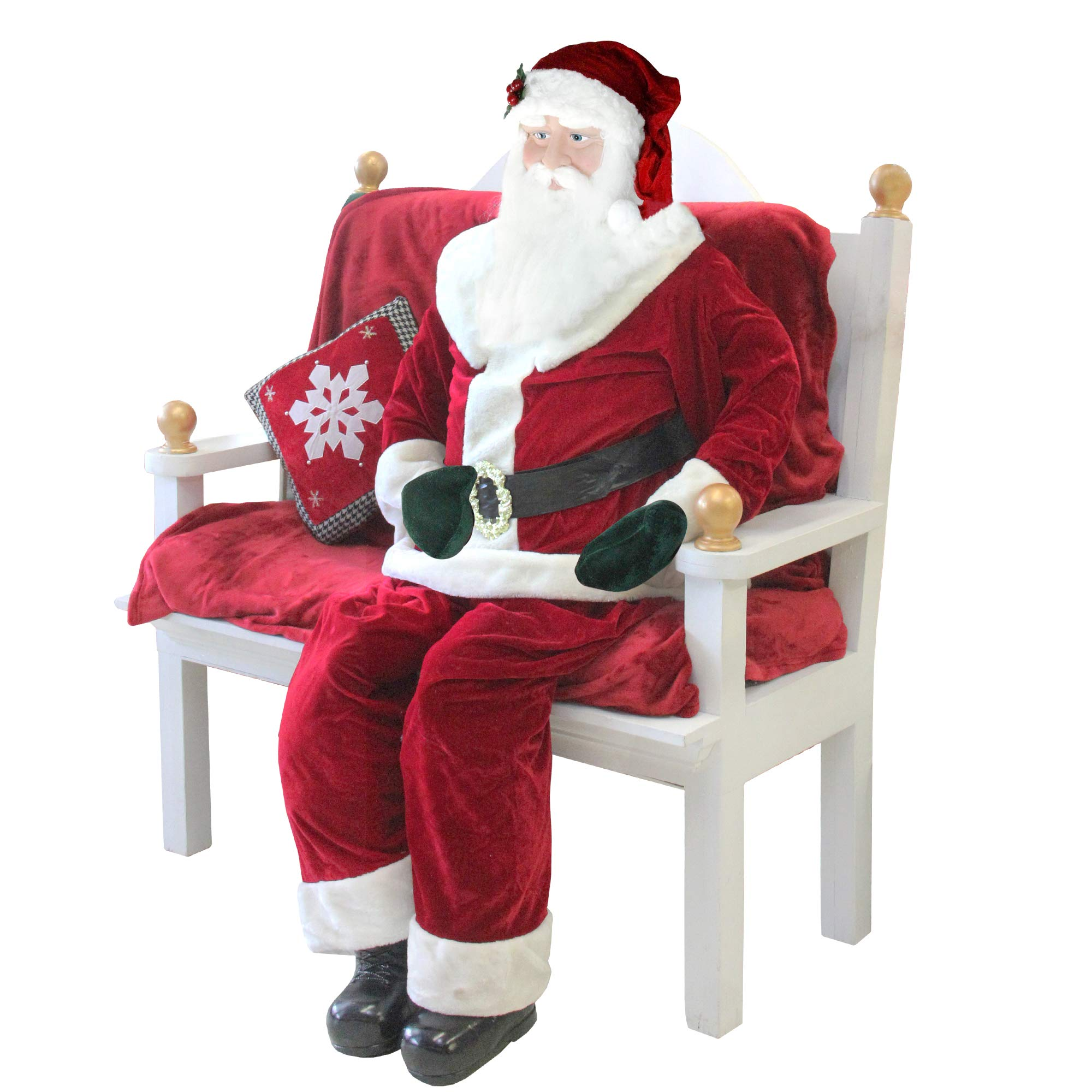 Northlight Huge 6 Foot Life-Size Decorative Plush Standing Santa Claus