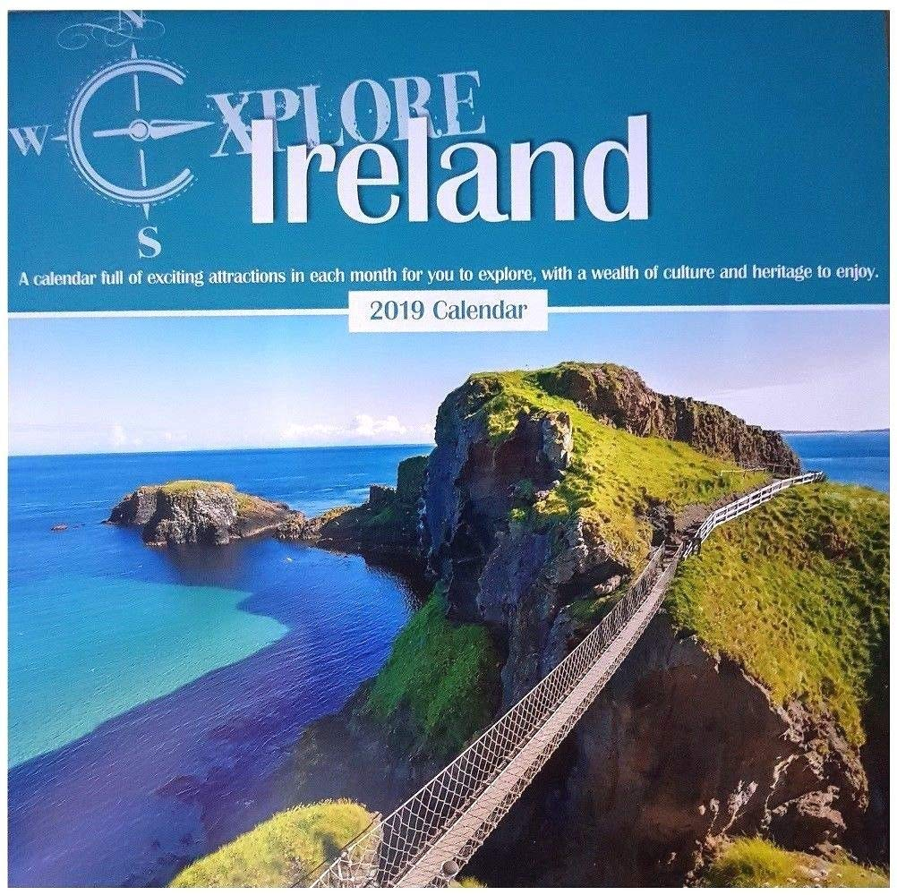 2019 Explore Ireland Square Wall Calendar Historic Buildings