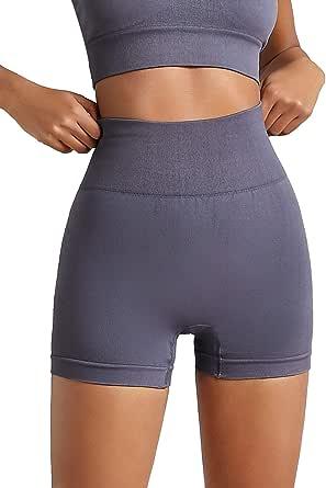 SheIn Women's High Waist Workout Shorts Wide Waistband Biker Yoga Running Short Pants
