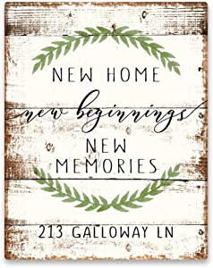 Pattern Pop Personalized New Home New Beginnings New Memories Metal Wall Art