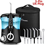 Ovonni Water Flosser -Professional Dental Oral Irrigator with 10 Pressure and 7 Interchangeable Jet Tips for Teeth,Braces & Bridges - High Capacity 600ML Water Tank for Whole Family(3-pin UK Plug)
