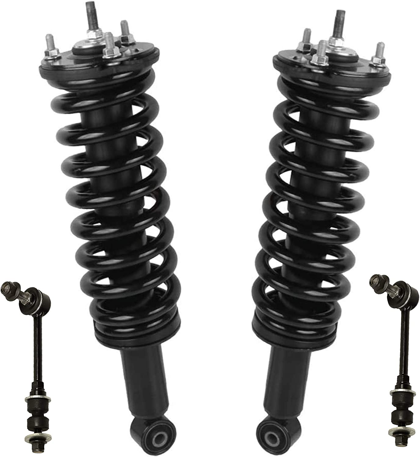 Detroit Axle 4pc Set Stabilizer//Sway Bar Link Replacement for 2003 2004 2005 2006 Toyota Tundra Complete Front Quick Struts /& Coil Spring Assembly