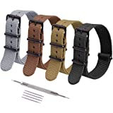 Ritche NATO Strap 16mm 18mm 20mm 22mm Premium Nylon Watch Band Strap with Stainless Steel Buckle