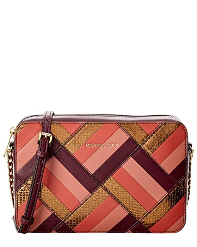 4f4874912e14 Michael Kors Womens Marquetry Leather Patchwork Crossbody Handbag Purple  Small: Handbags: Amazon.com