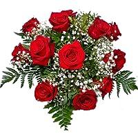EL JARDÍ D´ESTHER-Ramo de 12 rosas rojas naturales-FLORES FRESCAS- ENTREGA EN 24 HORAS