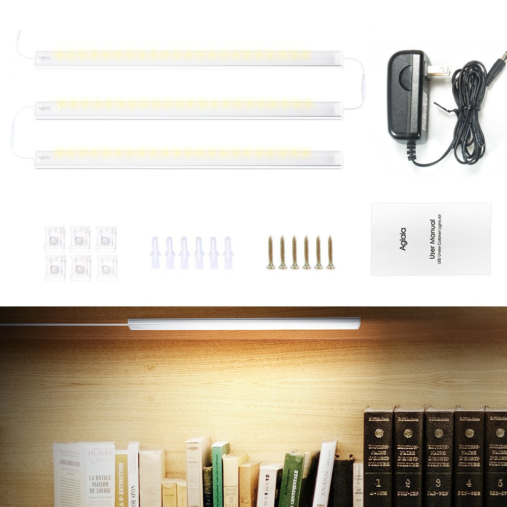 LED Unterbauleuchten, Aglaia Unterschrankleuchte, 3er Pack 15W 1200 ...