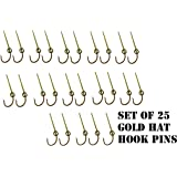 fa50f9da3a1ee Case of 25 Gold Eagle Claw Hat Fish Hook for cap and Tie Clip Bulk Pack