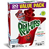 Fruit Roll-Ups Fruit Flavored Snacks, Variety Pack (Strawberry & Berry Berry Cool), 20-Count Rolls (6 10-oz. cartons)