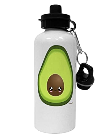 c8a6fa687b Amazon.com: TooLoud Cute Avocado Design Aluminum 600ml Water Bottle -  White: Home & Kitchen