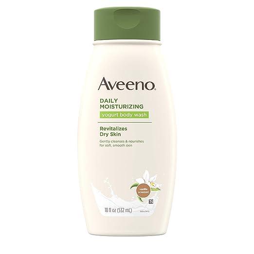 Aveeno Daily Moisturizing Body Yogurt Lotion, Vanilla and Oat, 18 Ounce (Pack of 3)