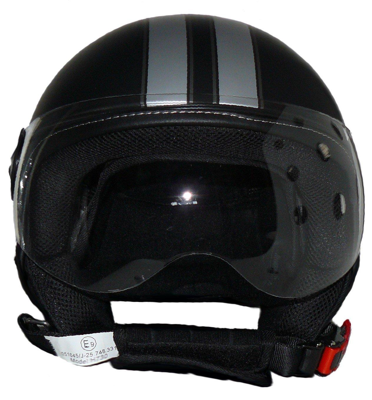 Protectwear Casco aperto con strisce H710 design pilota XL