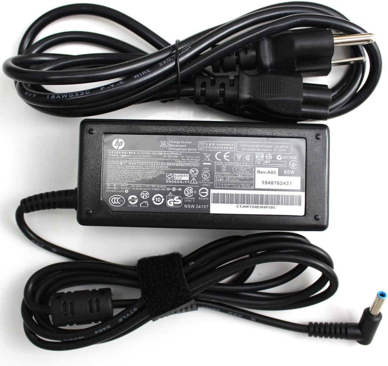 New Genuine HP ENVY TouchSmart Ultrabook 65W 19.5V 3.33A AC Adapter 854055-002