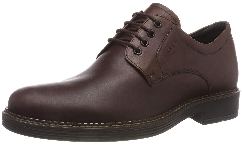 TALLA 41 EU. ECCO Newcastle GTX Tie, Zapatos de Cordones Derby para Hombre