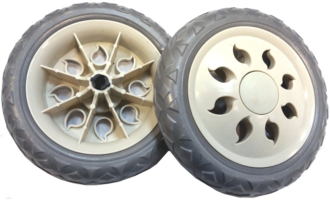 2 x Quality Replacement Spare Wheels for Shopping Trolleys and Carts Unbranded