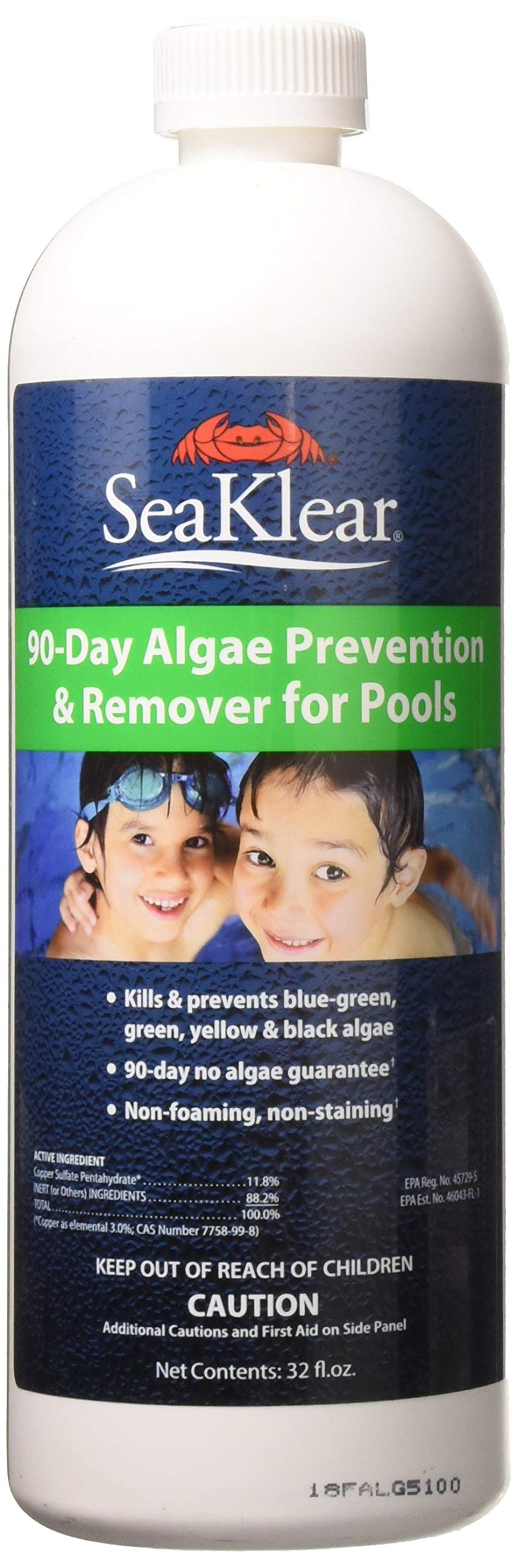 SeaKlear 90-Day Algae Prevention & Remover, 1 Qt by SeaKlear