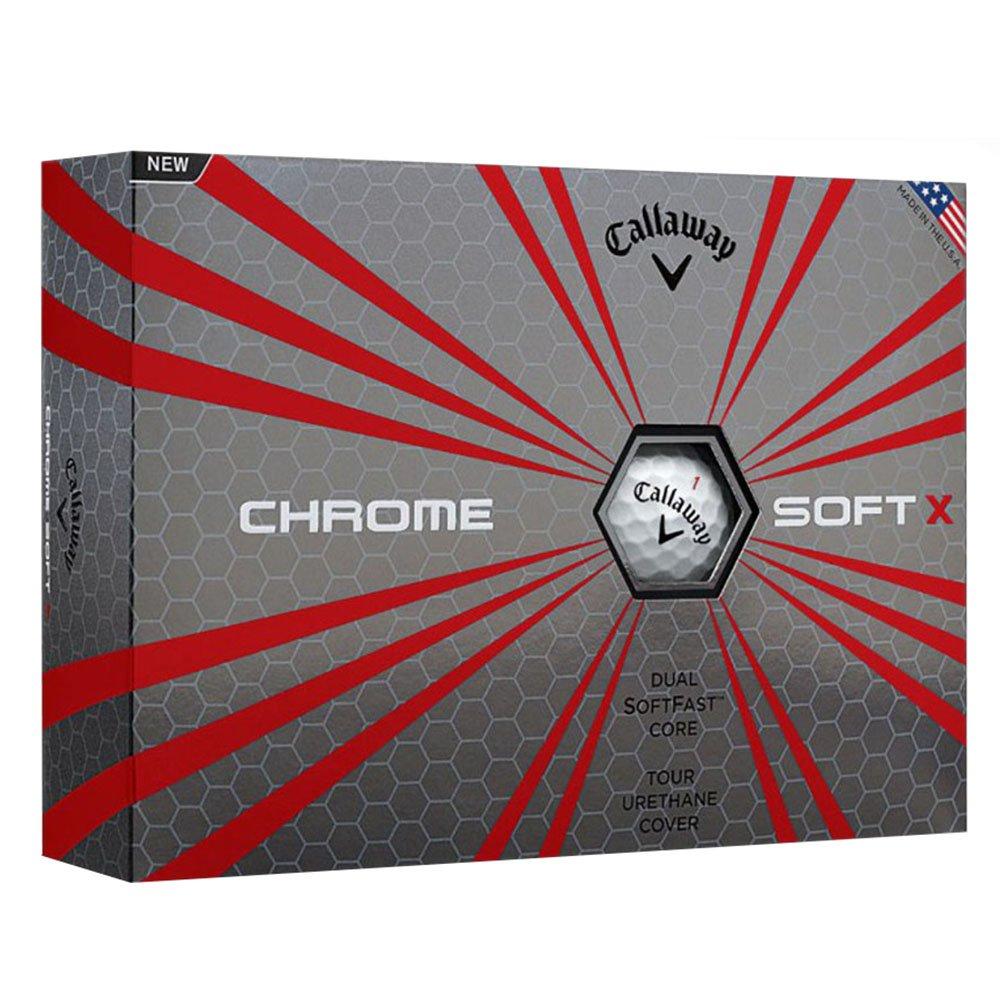 6 Dozen NEW 2017 Callaway Chrome Soft X Golf Balls White