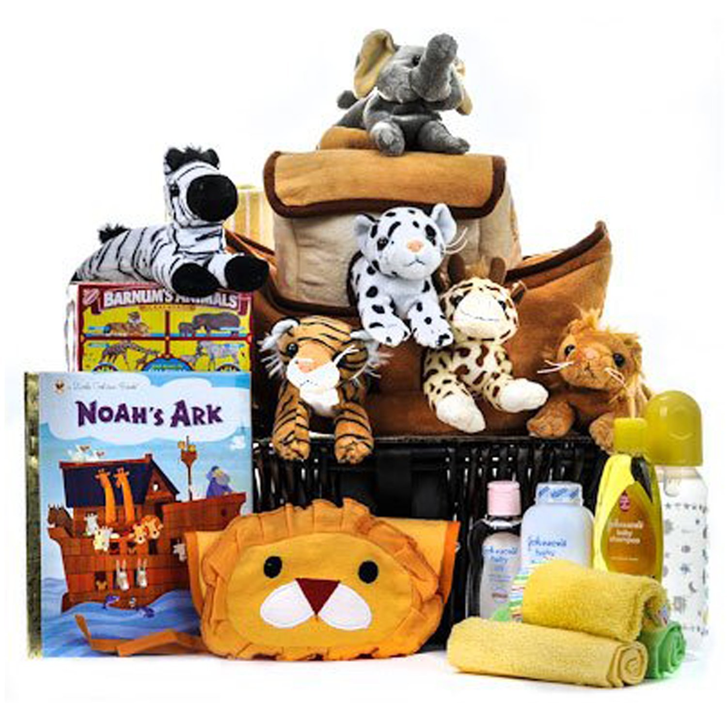 Deluxe Noah's Ark Cuddly Friends Baby Basket