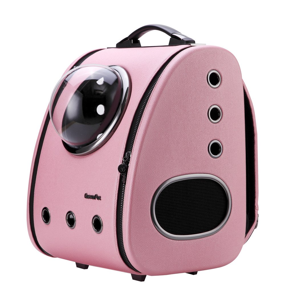CLOVERPET C0101 Innovative Fashion Bubble Pet Travel Carrier Backpack for Cats Dogs Puppy, Pink by CLOVERPET