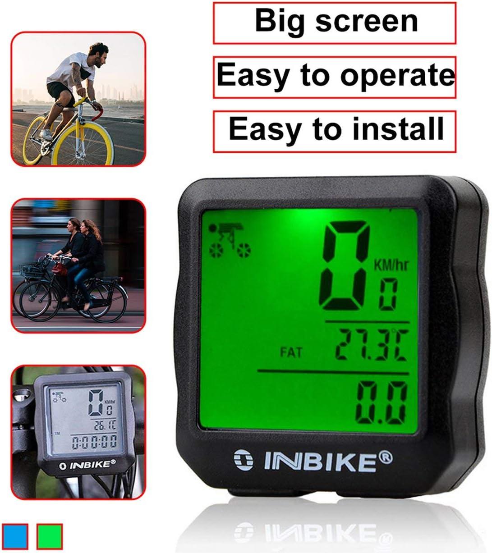 Ballylelly Bicicleta con Cable Od/ómetro Impermeable Luz de Fondo LCD Digital Ciclismo Bicicleta Computadora Veloc/ímetro Traje para la mayor/ía de Las Bicicletas