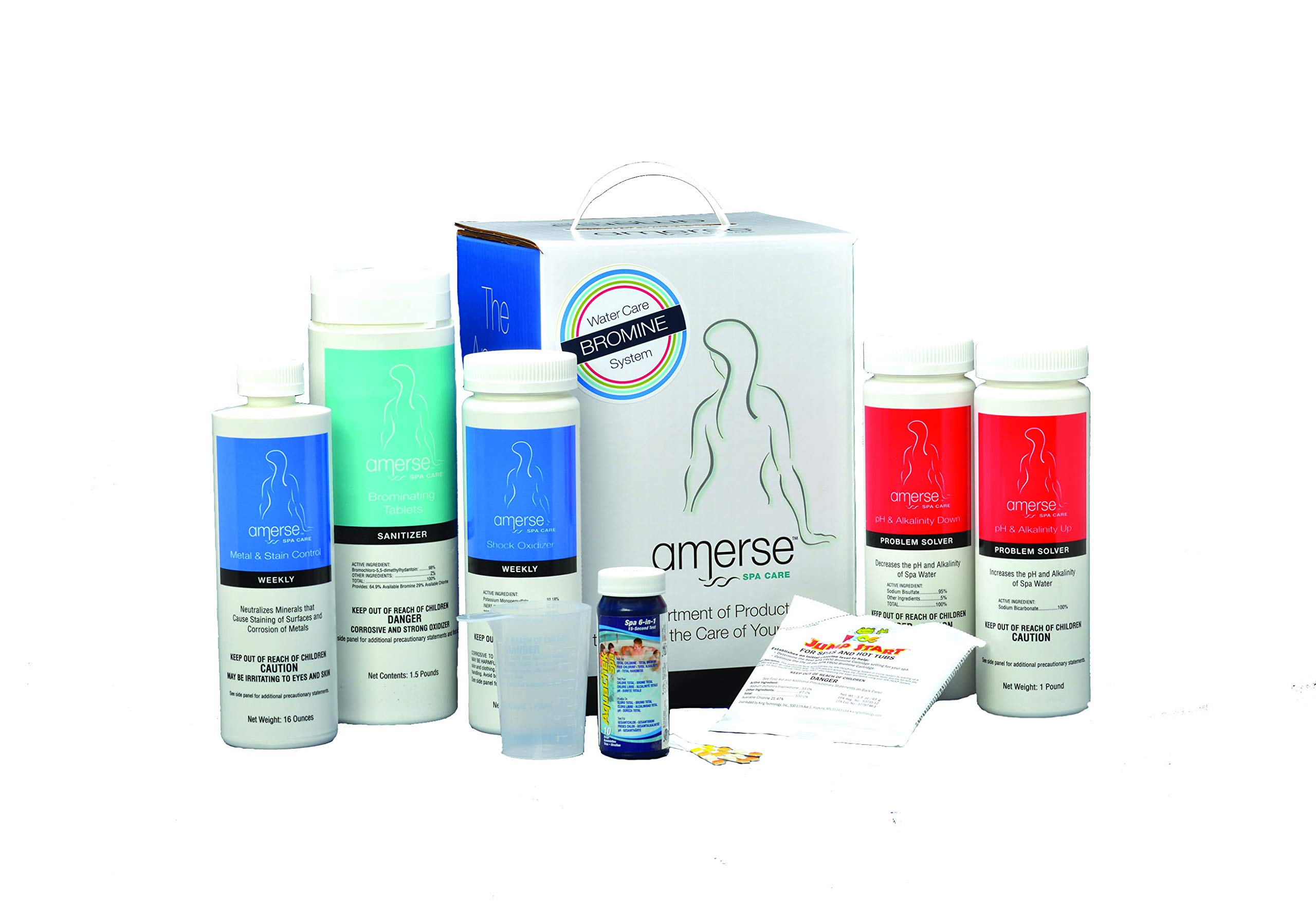 Amerse Bromine Hot Tub Spa Water Care Treatment Kit by Amerse