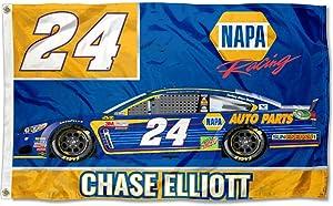 Chase Elliott #24 2017 CAR Version 3x5 Flag Outdoor House Banner Nascar Racing