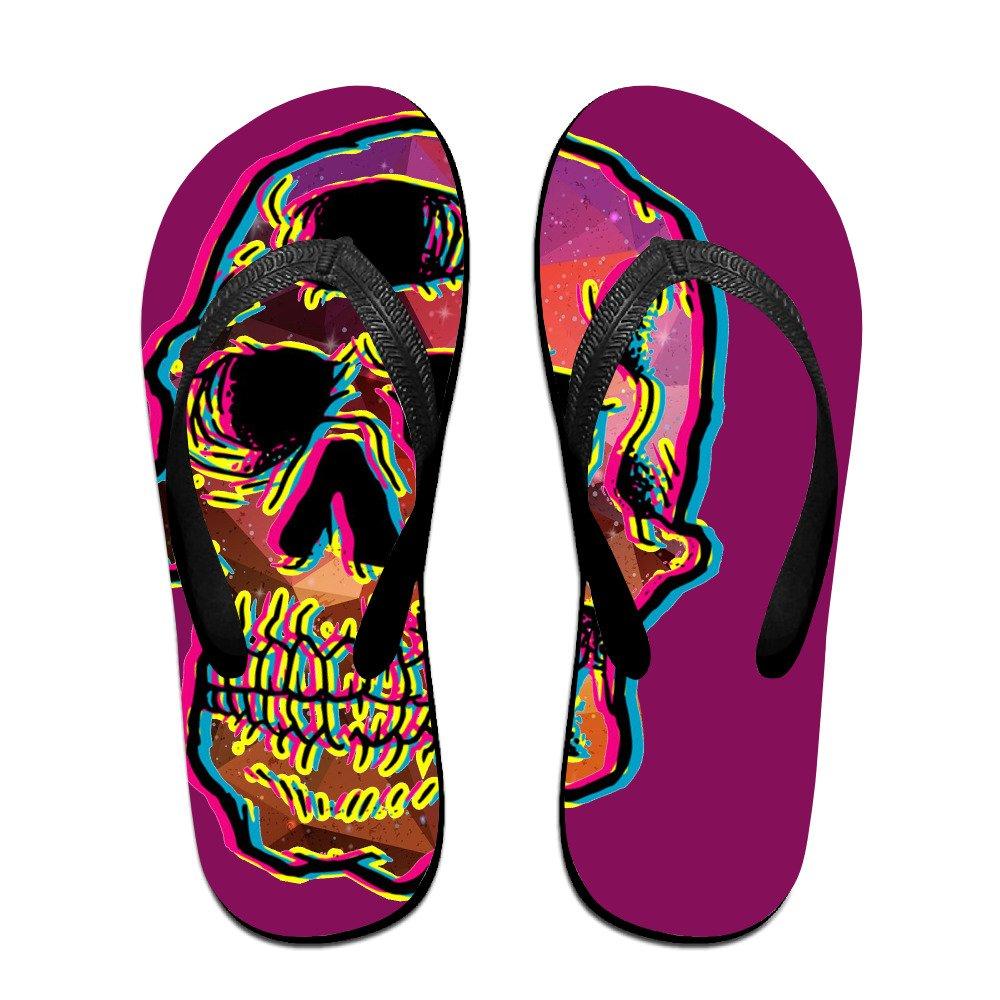 f138c96742d1 high-quality Men s Flash Skull Pattern Casual Unisex Soft Flippers Flip  Flops