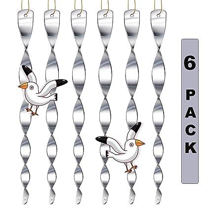 XUNKE 12 st/ück Reflektierende Vogelschreck Vogelabwehr zur Vogel abwehr Garten,Reflektierende Windspirale zur Halten Sie V/ögel Weg von Ihrem Haus,Abwehr von V/ögeln Dekoration f/ür Balkon und Garten