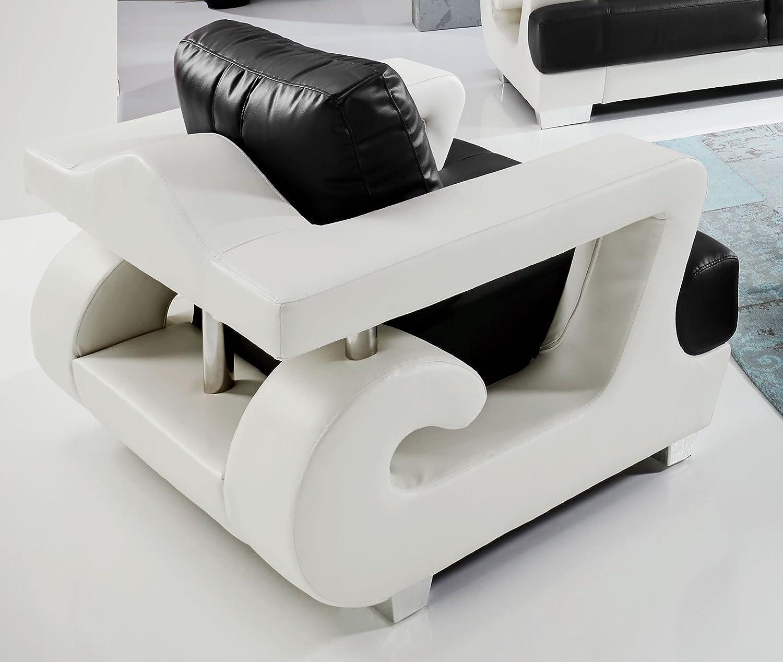 Fesselnde Couchgarnitur Mit Sessel Sammlung Von Sam 3tlg Sofa Garnitur Antonio, Weiß/schwarz, Aus