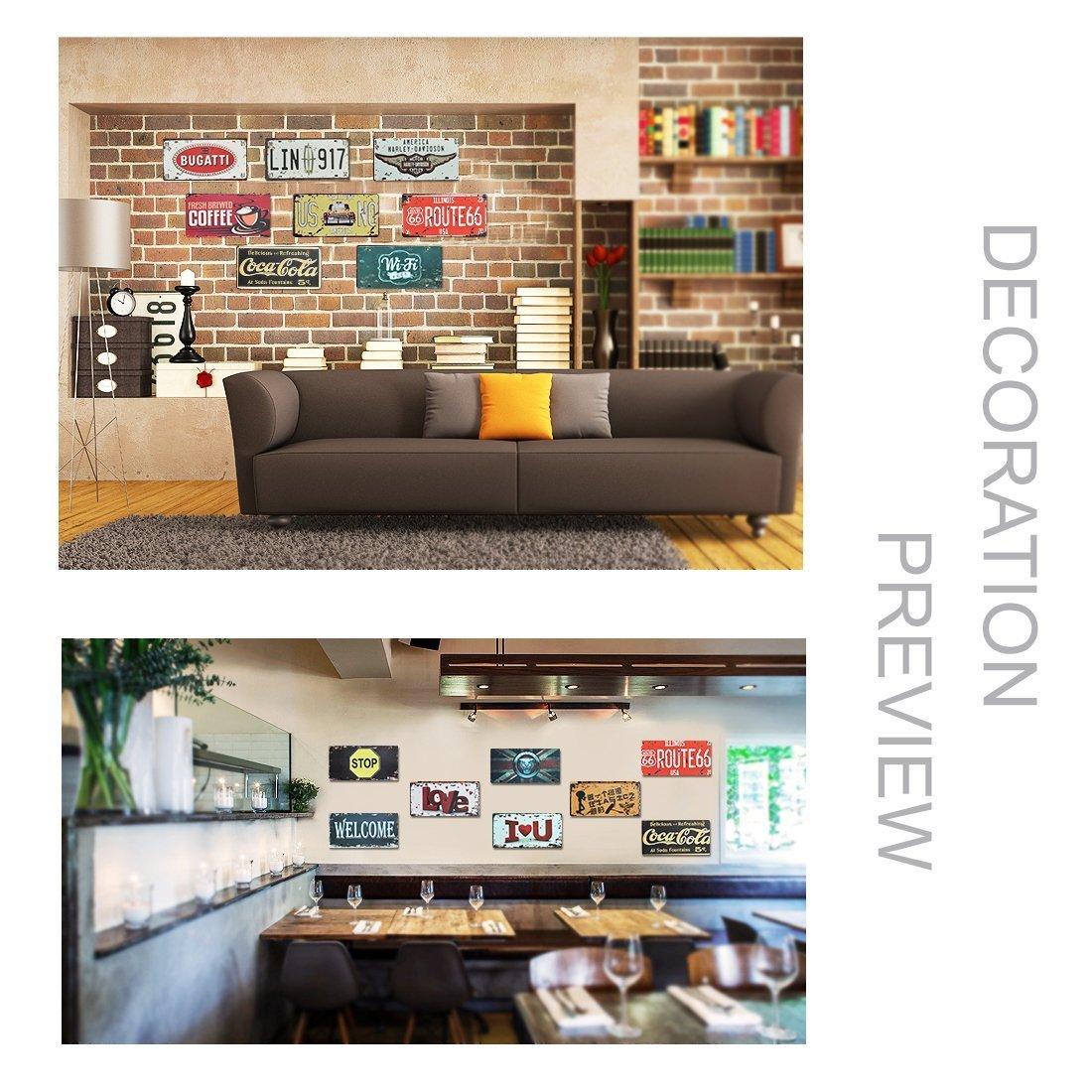 bar exposition 6x12 Plaque dimmatriculation de voiture Eureya restaurant D/écoration murale vintage pour maison caf/é pub New York Big Apple M/étal