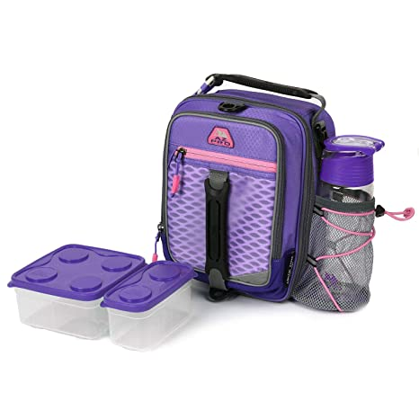 78e68b40f9bf AZ Pro High Performance Dual Compartment Lunch Pack; Purple/Pink