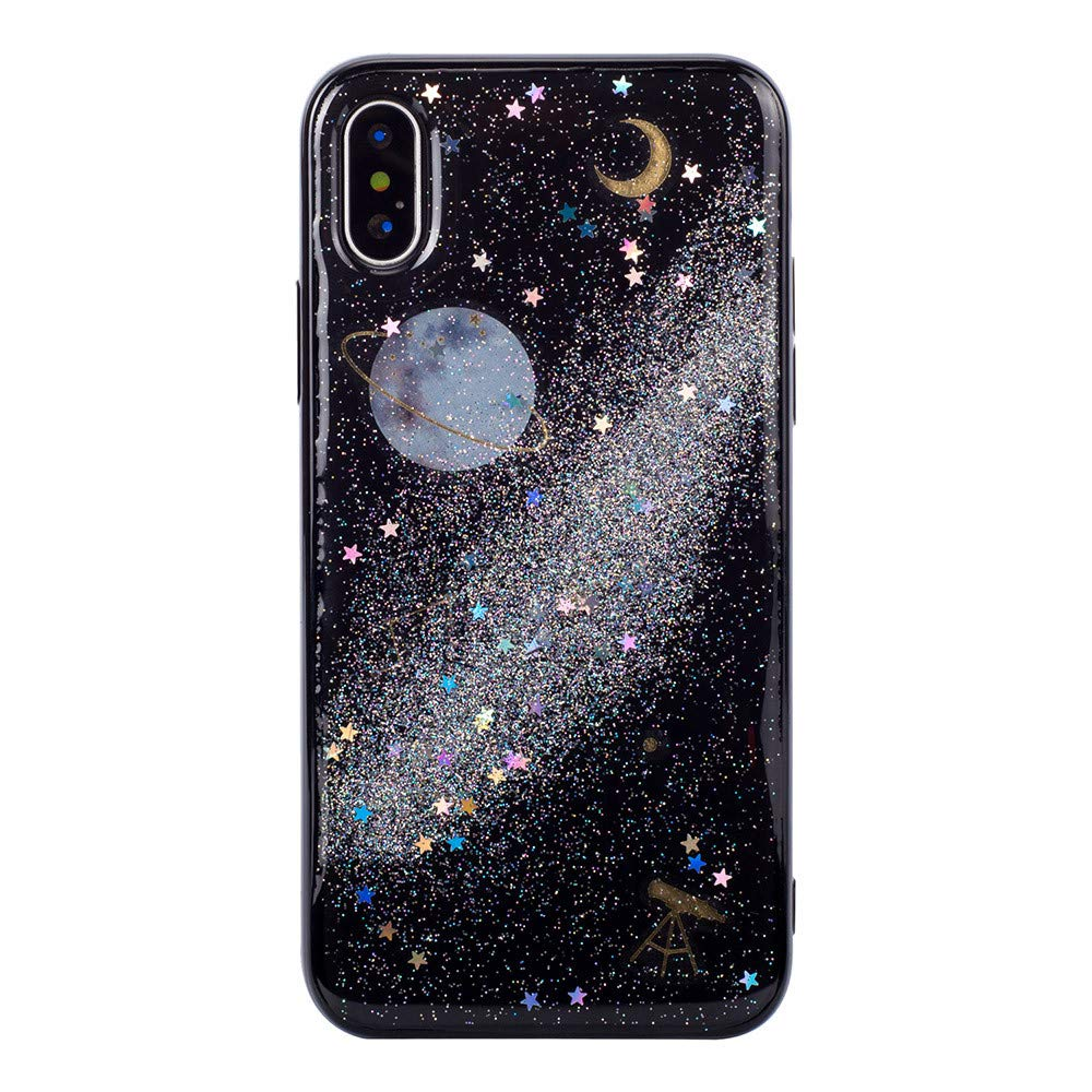 F/ür iPhone XR 6.1 Zoll TPU Silikon Handy H/ülle Schutzh/ülle,Colorful Bling Planet Design Ultra D/ünn Kratzfeste Weich Soft Flexibel Bumper Silikon Back Case Cover R/ückschale E
