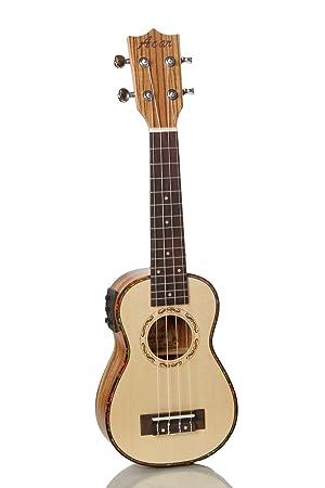 XIE@ukelele ukelele de cuatro cuerdas de la guitarra eléctrica caja ...