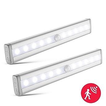 B.K.Licht 2x LED Schrankbeleuchtung | Bewegungsmelder | Schranklicht | Wandlicht | Vitrinenbeleuchtung | Nachtlicht mit Beweg