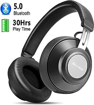 Auriculares Diadema Bluetooth 5.0, YINSAN Cascos Bluetooth Inalámbricos con Micrófono, 30hrs Reproducción de Música, Hi-Fi Sonido Estéreo para iPhone/iPad/Samsung/Huawei Móviles, TV, PC (BLU): Amazon.es: Electrónica
