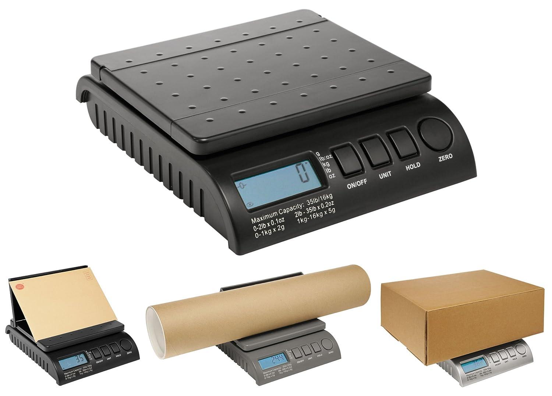 Báscula digital PostShip, a partir de incrementos de 1 g, para correo postal, paquetes, envíos por correo para pesar paquetes: 0-1 kg/1 g 1-5 kg/2 g 5-20 ...