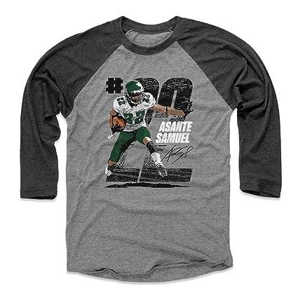 f4c56e43 Amazon.com : 500 LEVEL Asante Samuel Baseball Tee Shirt - Vintage ...