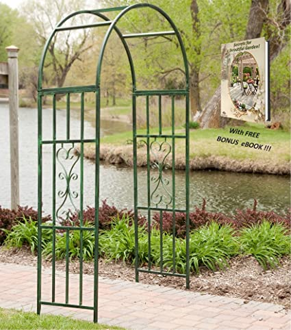 Garden Arch Outdoor And Wedding Decoration Metal Frame For Climbing Plants  With Great Free Bonus EBook