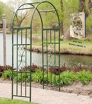 Amazon.com : Garden Arch Outdoor And Wedding Decoration Metal Frame For  Climbing Plants With Great Free Bonus EBook : Garden U0026 Outdoor