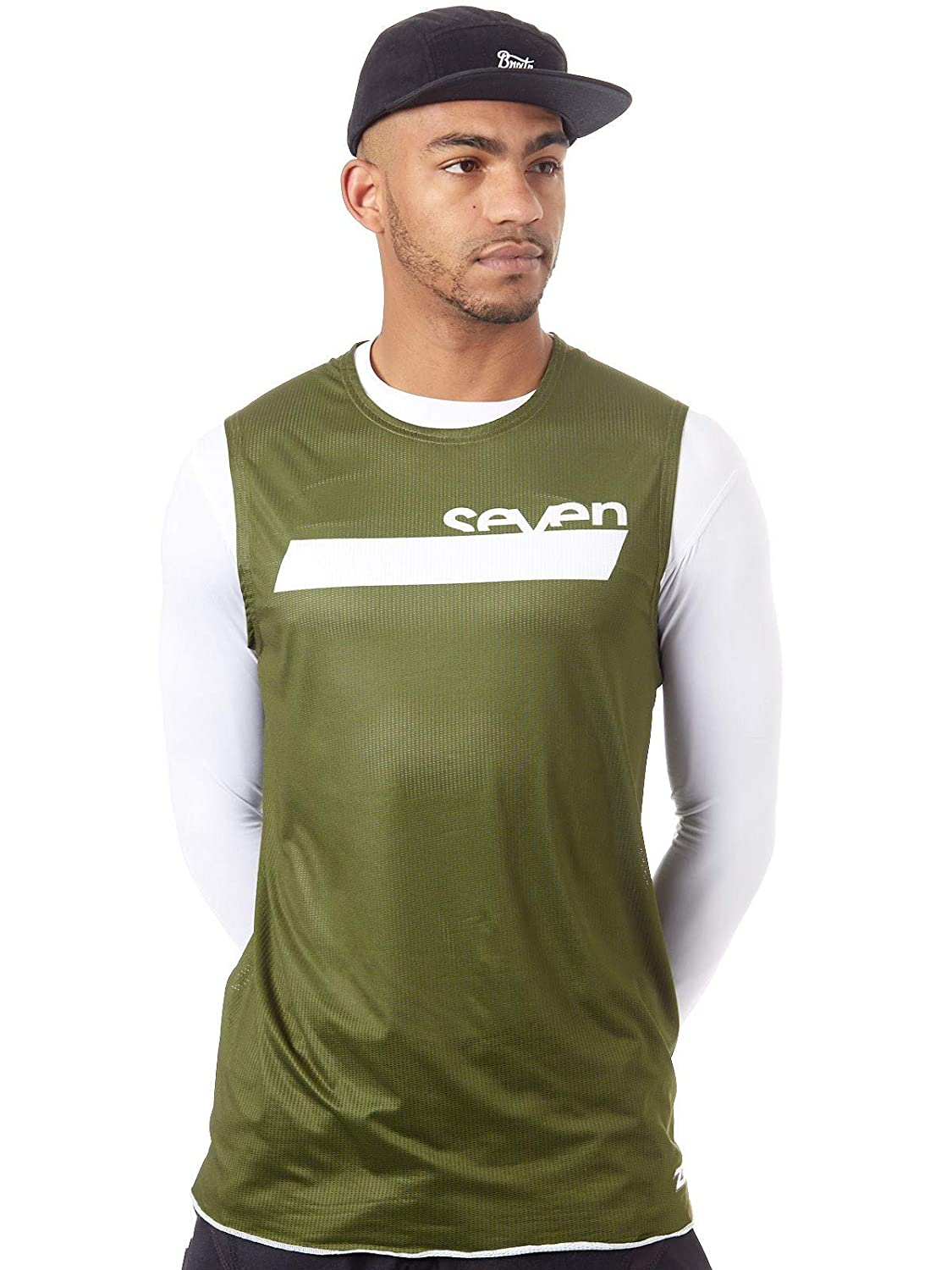 Seven Zero Neo Over Mens Off-Road Motorcycle Jersey Olive//Small