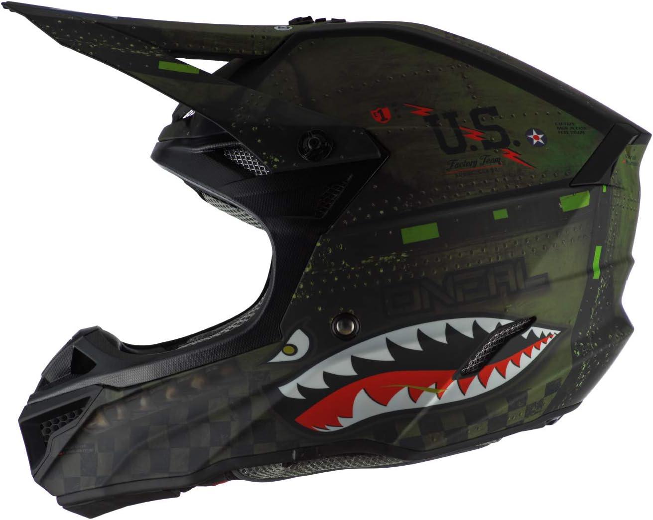ONeal 5 Series Unisex-Adult Off-Road Helmet Black//Green, XS