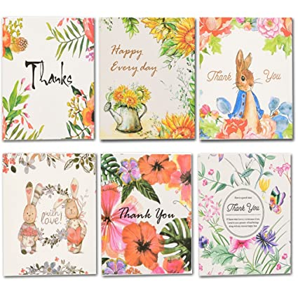 Amazon coland thank you cards floral flower thank you notes coland thank you cards floral flower thank you notes for wedding birthdays business reheart Image collections