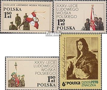 Prophila Collection Polonia Michel.-No..: 2578-2580,2581 (Completa.edición.) 1978 35 años ejército del Pueblo, filatelia (Sellos para los coleccionistas) Militar: Amazon.es: Juguetes y juegos