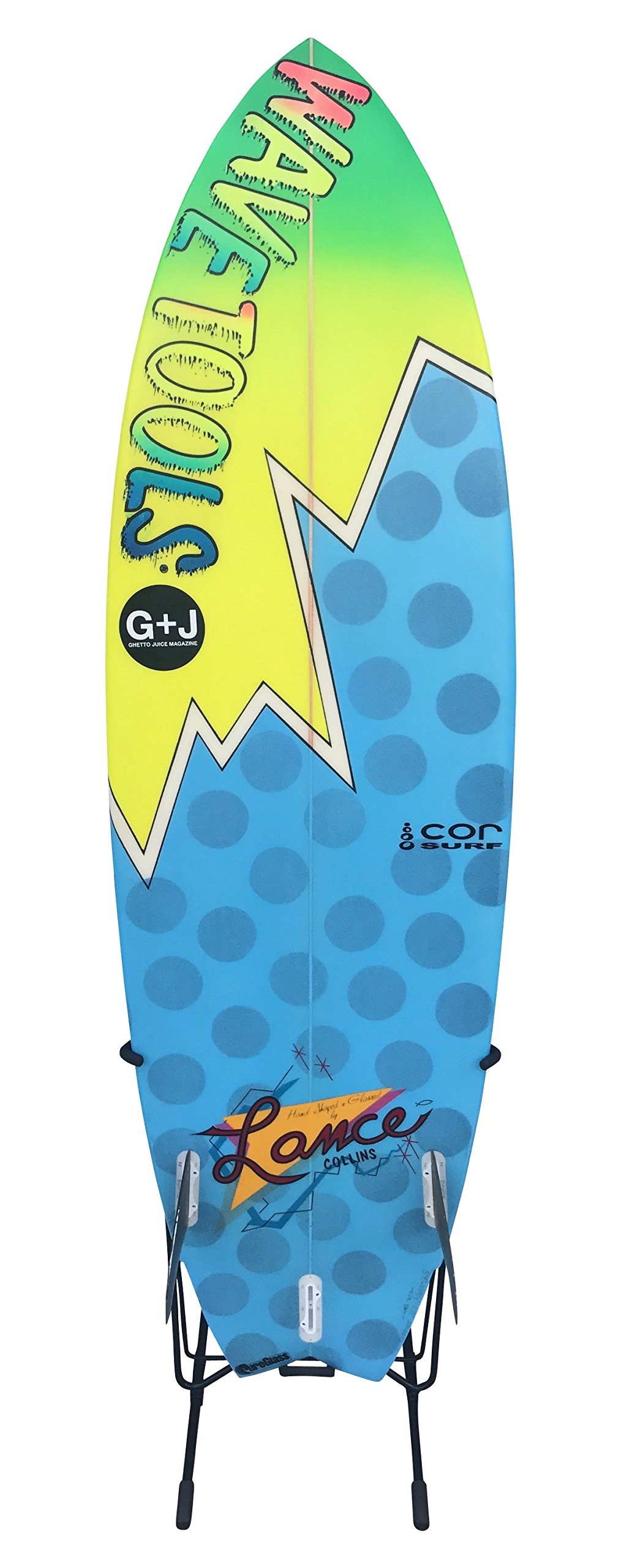 Cor Surf Surfboard Stand   Works with Shortboards Longboards   No Center Fin Needed