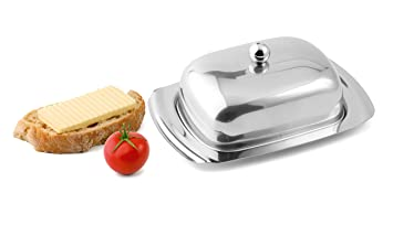 Kühlschrank Butterdose : Hochwertige butterdose aus edelstahl hochglanz spülmaschinenfest
