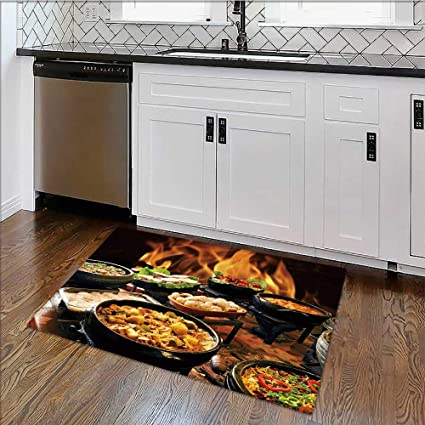 Self Service Rug.Amazon Com Rug Easy To Clean Durable Self Service Food Rug