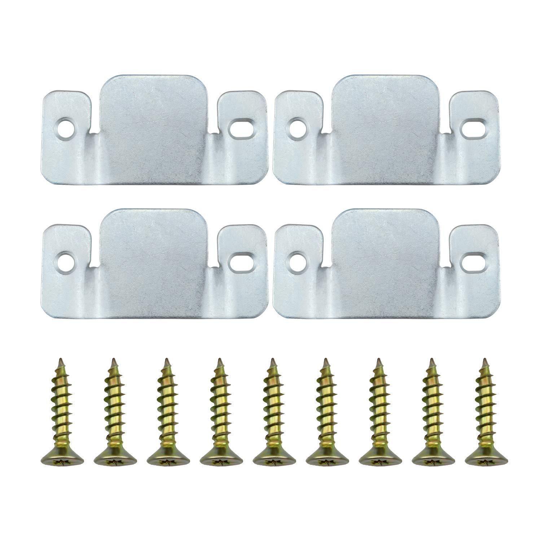 Dreamtop 4pcs Universal Metal Sectional Sofa Interlocking Furniture Connector Bracket with Screws 4335394115