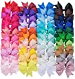 """40 Colors 3"""" Hair Bows Clips Ribbon Bowknot Clip for Baby Girls Teens Toddlers"""