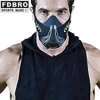 Máscara de respiración para entrenamiento de entrenamiento, Máscara de resistencia a la respiración hipóxica para correr Fitness Training, Máscara de cardio para profesionales - Entrenador de simulación de elevación de gran altitud (6 niveles de altitud)