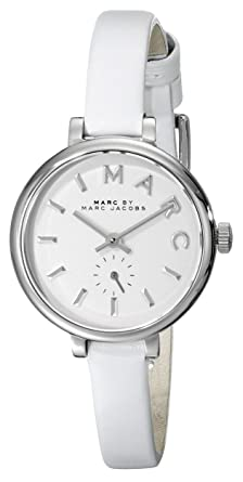 c3fb871c39e2d Image Unavailable. Image not available for. Color: Marc by Marc Jacobs  Women's MBM1350 Stainless Steel Watch with Skinny White Leather Band